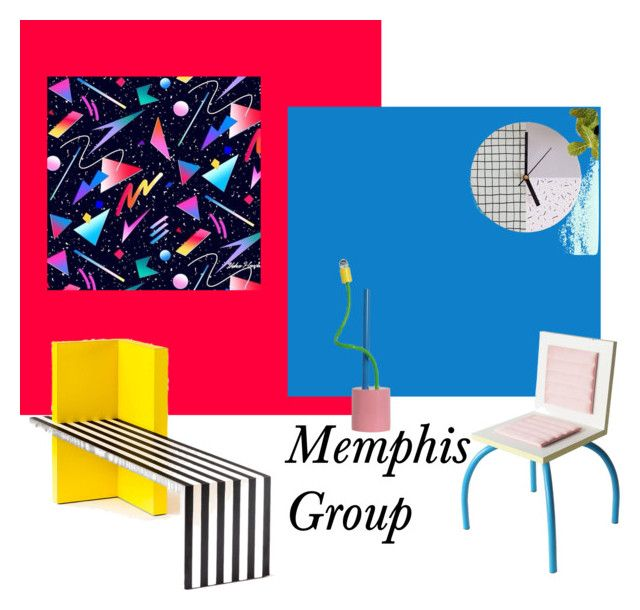 """Memphis Group"" by tarekzg on Polyvore featuring interior, interiors, interior design, hogar, home decor y interior decorating"
