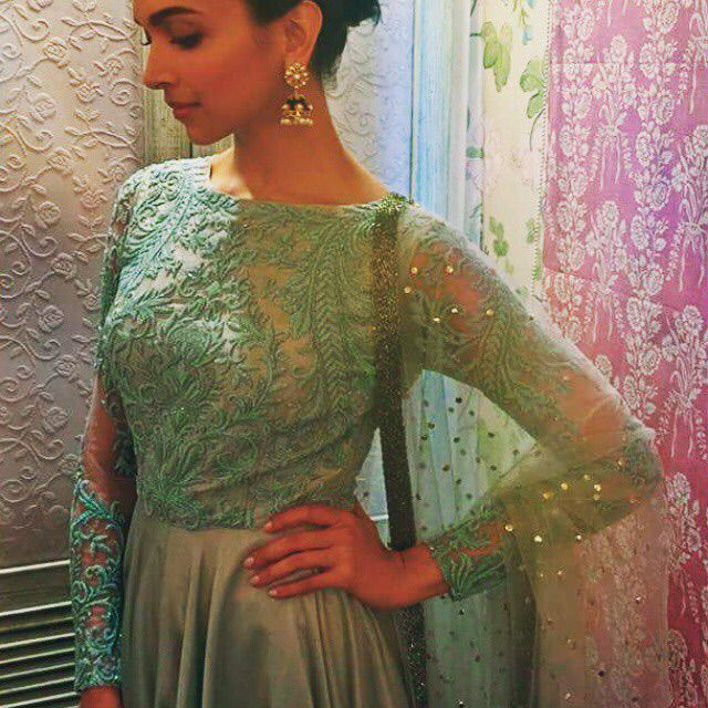 Mint lace Indian anarkali