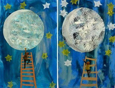 à la manière de... Eric Carle : Décroche-moi la lune