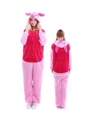 1a39e4f69c Winnie the Pooh Piglet Onesie Pajamas Flannel