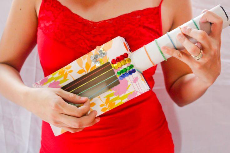 How to Make a Tissue Box Guitar -- via wikiHow.com
