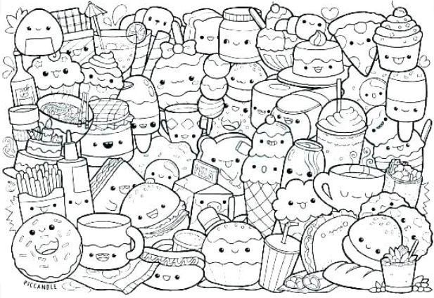 Pin By Unfollow Me Please On Coloring Pages Cute Coloring Pages Food Coloring Pages Cute Doodle Art