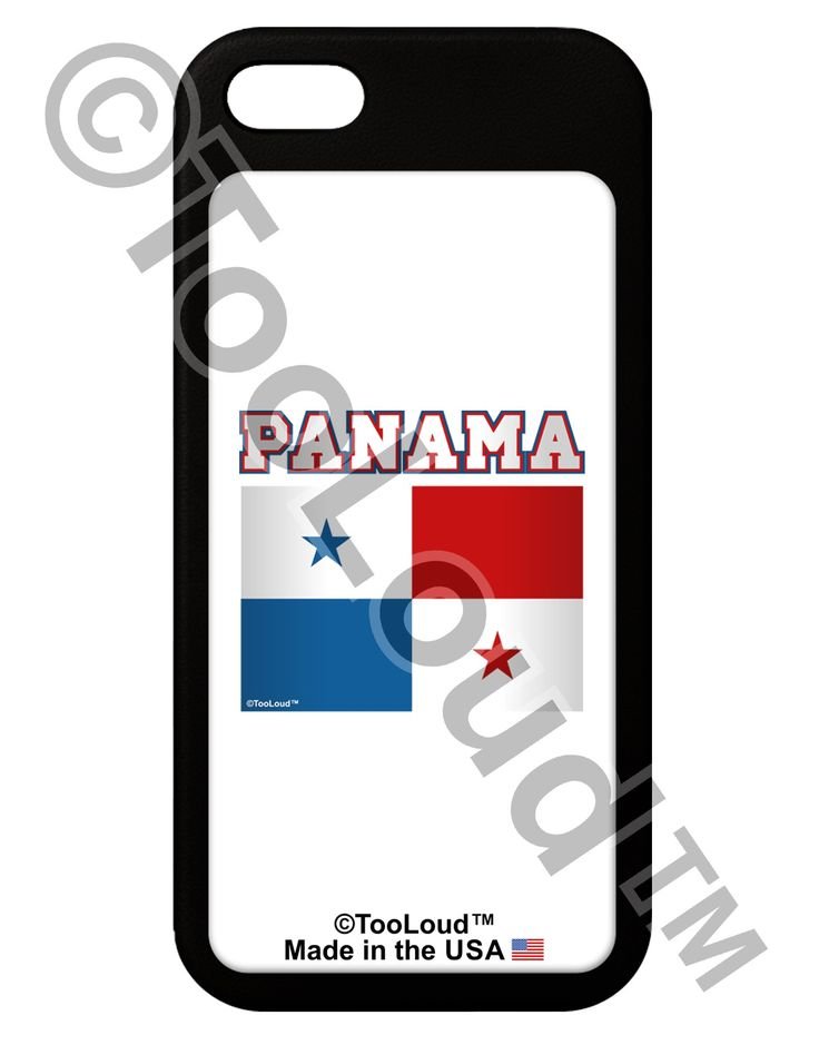 Panama Flag iPhone 5 / 5S Grip Case by TooLoud