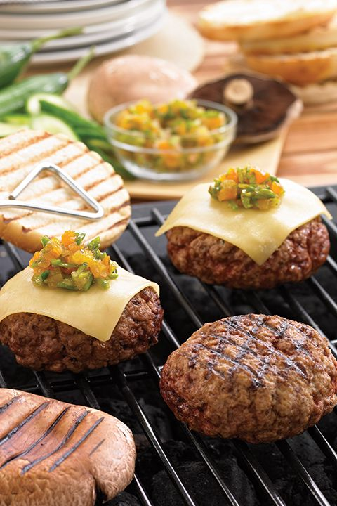 INGREDIENTS BY SAPUTO   Treat yourself to this great lamb burger with apricot-pistachio chutney. Top with Saputo sliced Gouda cheese and mushrooms for a unique grilling idea that turns any meal into a celebration of summer!