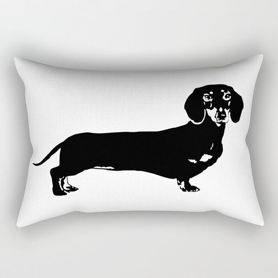 Details  If you are a Dachshund owner and you're looking for monochrome nursery and kids decor - you must own this cushion. Our Rectangular Pillow is the ultimate decorative accent to your room.  LISTING INCLUDES: - Rectangular pillow with insert with Dachshund print.   Dachshund Pillow Dachshund Gifts Monochrome Nursery Decor