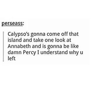 Calypso meets Annabeth