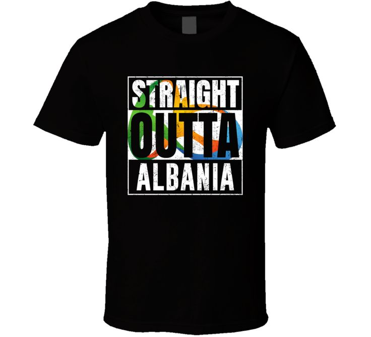 Straight Outta Albania Rio 2016 Olympic Country Team Fan T Shirt