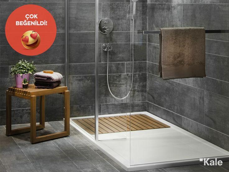 Floor duş teknesi alternatifli ebat seçeneği, zemindeki bambu detayı ve devamında sağladığı rahat kurulanma alanı ile #çokbeğenildi   #Kale #banyo #dekorasyon #haftanınfavorisi #favoritebathrooms #tasarım #dekorasyonönerileri #bathroom #design #designideas #bathroomdesign #bathroomideas