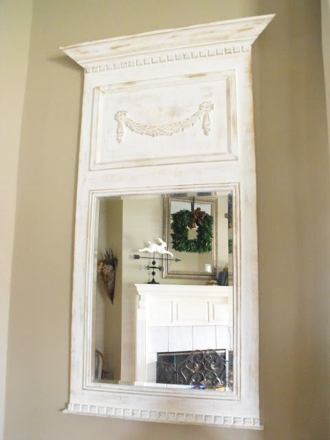 Diy trumeau by susie harris mirrors pinterest for Miroir walmart