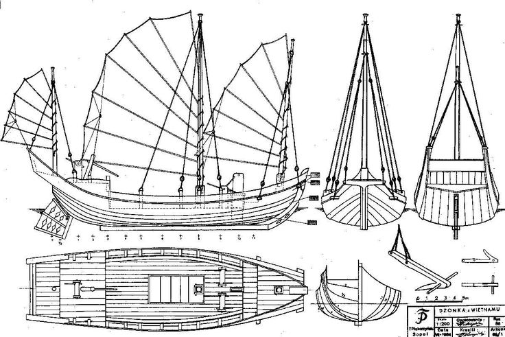 Junk Sailboat How To DIY Download PDF Blueprint UK US CA Australia Netherlands.
