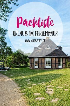 MrsBerry Reiseblog   Packliste für Urlaub im Ferienhaus   umfangreiche Checkliste zum ausdrucken und abhaken