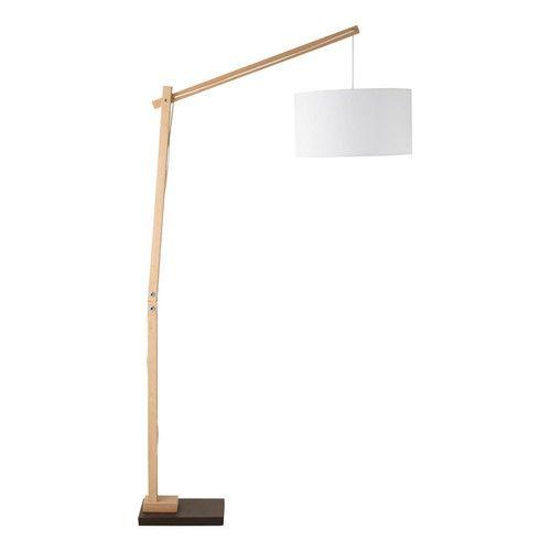 Lámpara de pie de madera Taiga,  Maisons du Monde, 130€