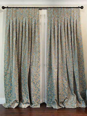 Window Treatment - Inverted Pleat Drapes