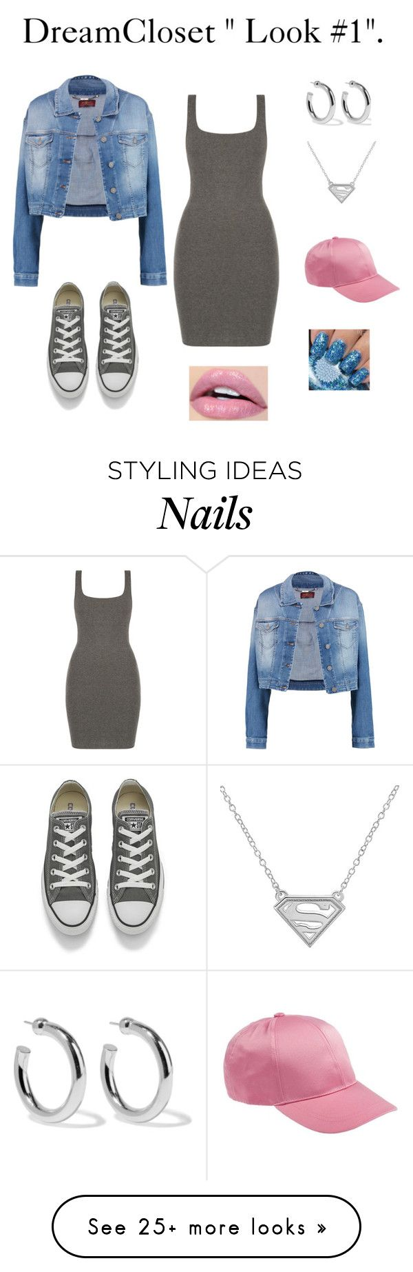 """""""Grey Dress """"Look #1"""" By DreamCloset"""" by dreamclosetx4 on Polyvore featuring 7 For All Mankind, Converse and Sophie Buhai"""