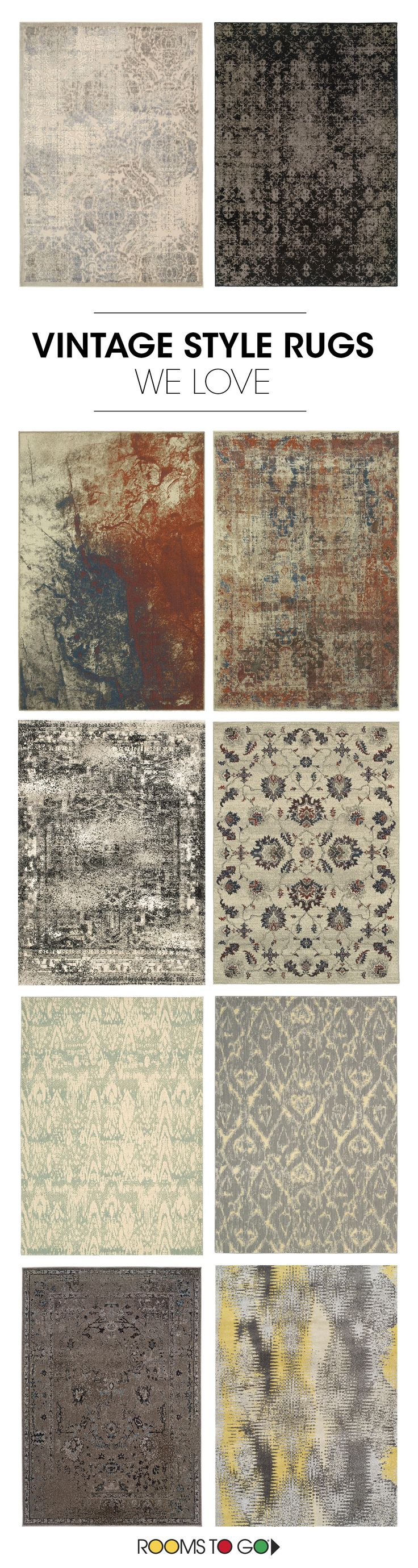 A good rug adds style and contrast to a room. Our rugs come in an array of colors and patterns and fit casual, contemporary, outdoor, rustic, traditional, and transitional decors.