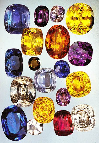 September - sapphire .... naturally occurs in every color of the rainbow and in RARE cases; a type of it is known to be 1 of 5 gem species in the world with a natural color change occurrance