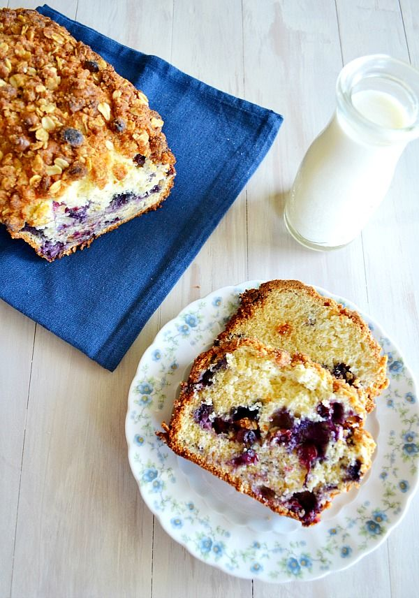 White Chocolate Blueberry Crunch Bread from Kitchen Meets Girl... I LOVE her site!