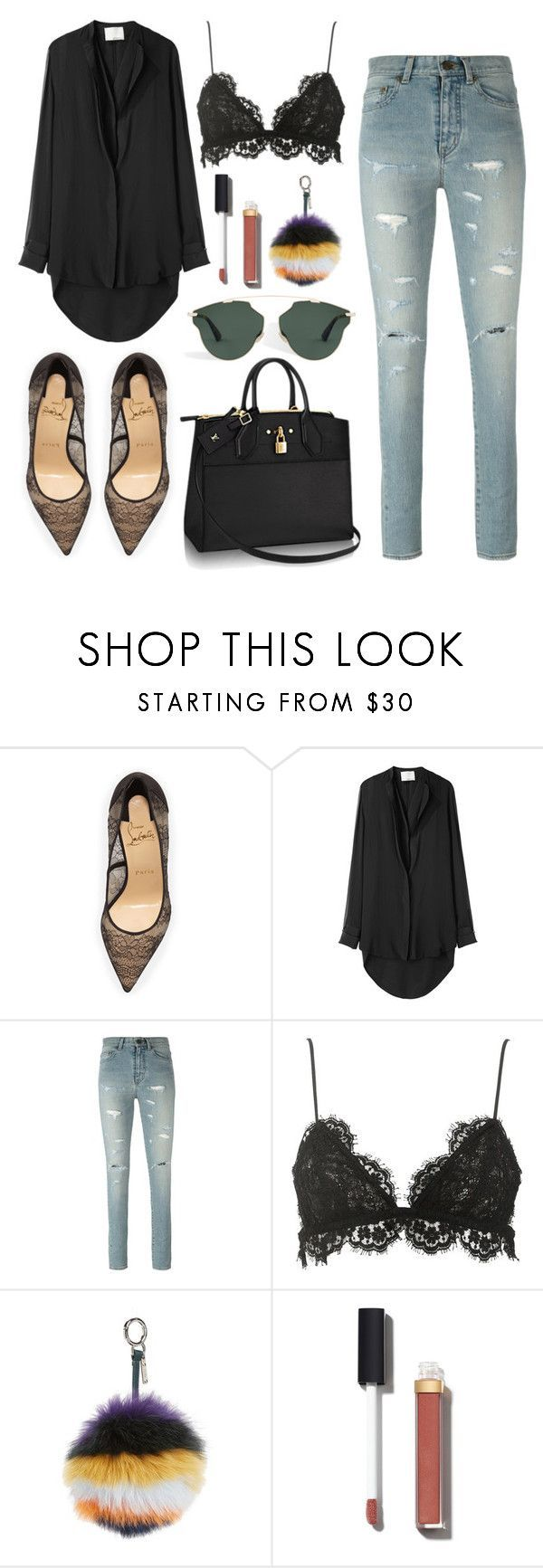 """Sem título #283"" by justfash ❤ liked on Polyvore featuring Christian Louboutin, 3.1 Phillip Lim, Yves Saint Laurent, Isabel Marant, Fendi and Chanel"