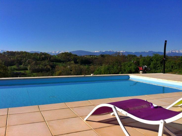 Enjoy the gorgeous mountain views from the pool www.pyreneesgite.com