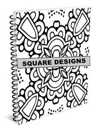 Square 1 Adult Coloring Book All 25 Illustrations In Are Original