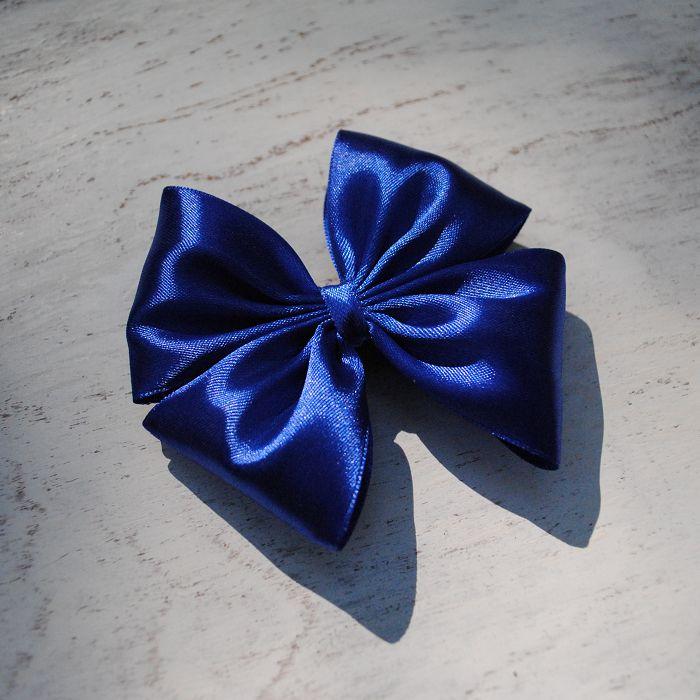 Happy Moment. Синий   #bow #SunBow #SPb #hairbow #hairstyle #бант #бантик #заколка #заколкадляволос #синий