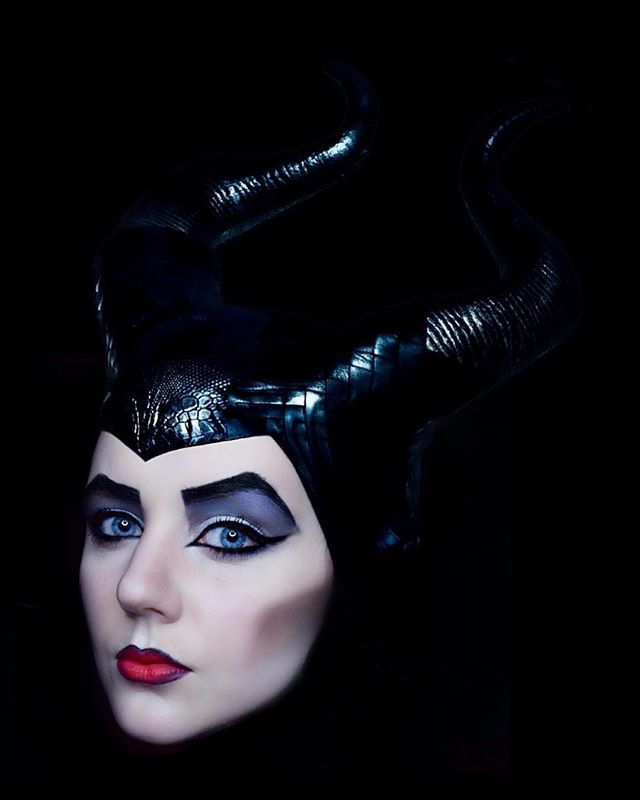 Inspirational Maleficent Costume Makeup ~ Nailed It!