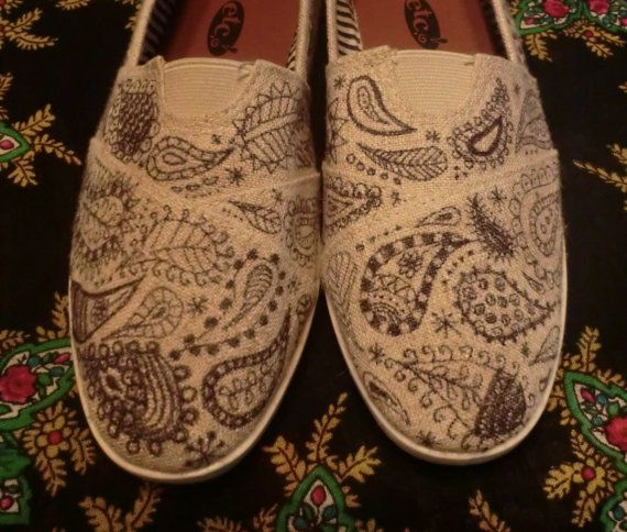 BOHEMIAN WANDERING - Hand Decorated Toms Style SHOES