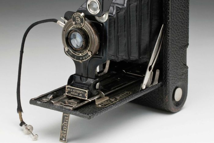 Autographic Kodak Junior camera from early 1900s