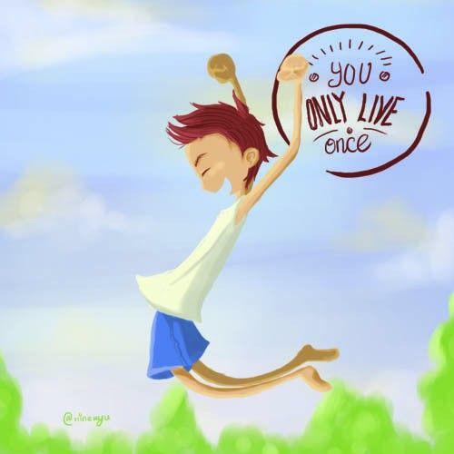 #yolo #you #only #live #once #boy #illustration #ninekyu