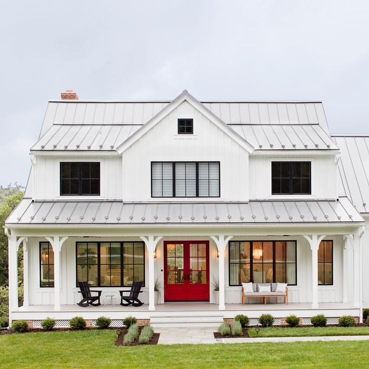 25+ Trendy Farmhouse Exterior Home Design-Ideen