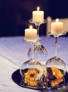 copas con flores