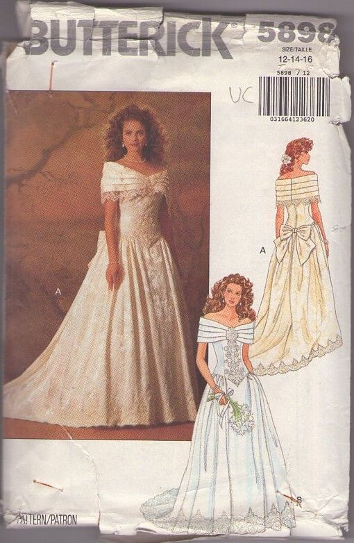 162 best images about bridal sewing patterns on pinterest for Wedding dress patterns vintage