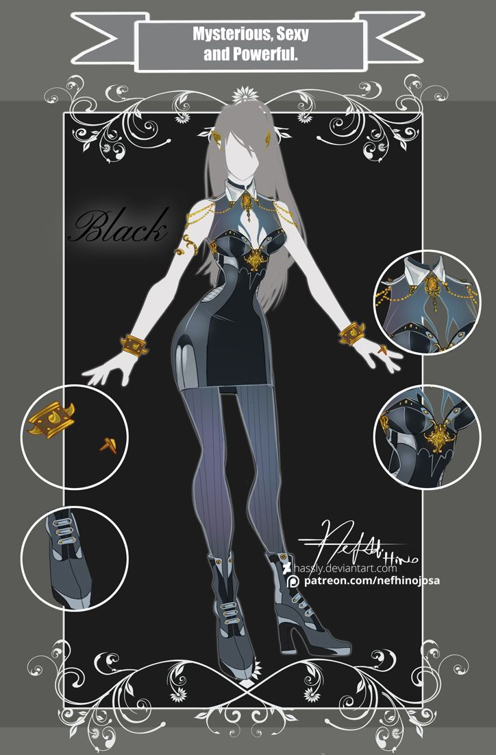 CLOSED Adoptable Outfit Auction: MSP Black by Hassly.deviantart.com on @DeviantArt