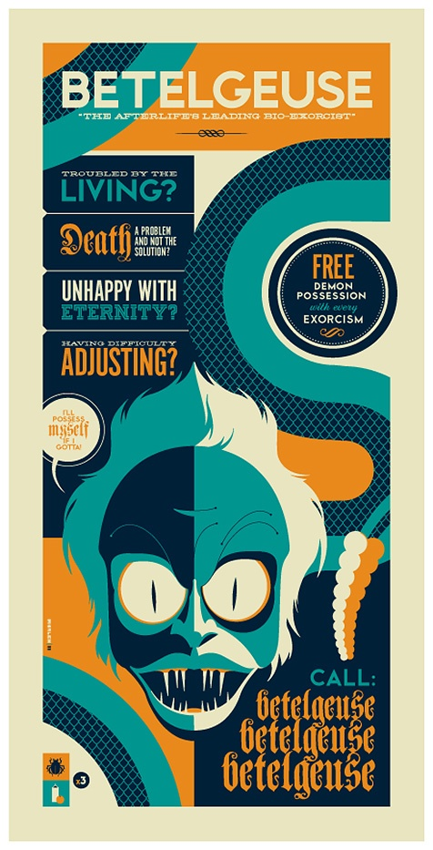 I must have this.. I will track one down on eBay. I <3 Tom Whalen.. Beetlejuice is one of my favorite movies.