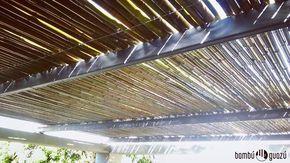 #techo #cañas sobre #pergola de hierro #refrescante #castelar #bambu #bamboo
