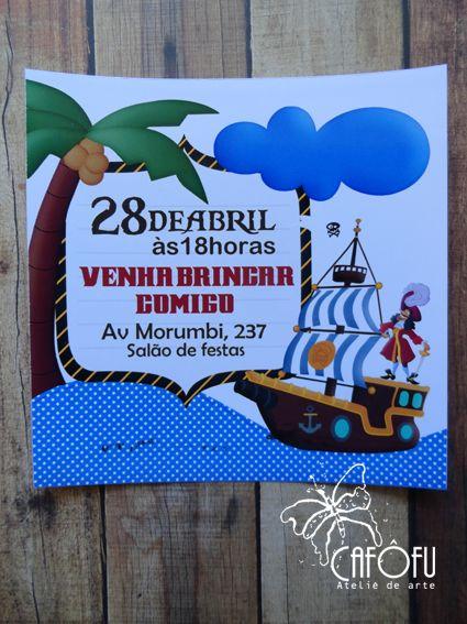 TEMA PIRATA - http://cafofuateliedearte.blogspot.com.br/2016/05/curso-de-festa-e-papelaria.html