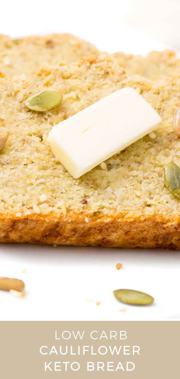 Low Carb Cauliflower Bread Recipe Keto Bread Food Food