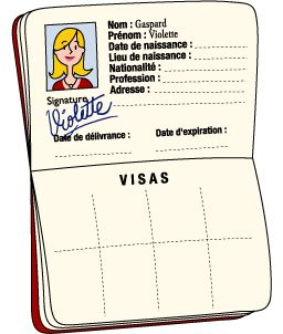 French writing practice: create a passport and fill out all personal information: Le passeport du futur de Violette