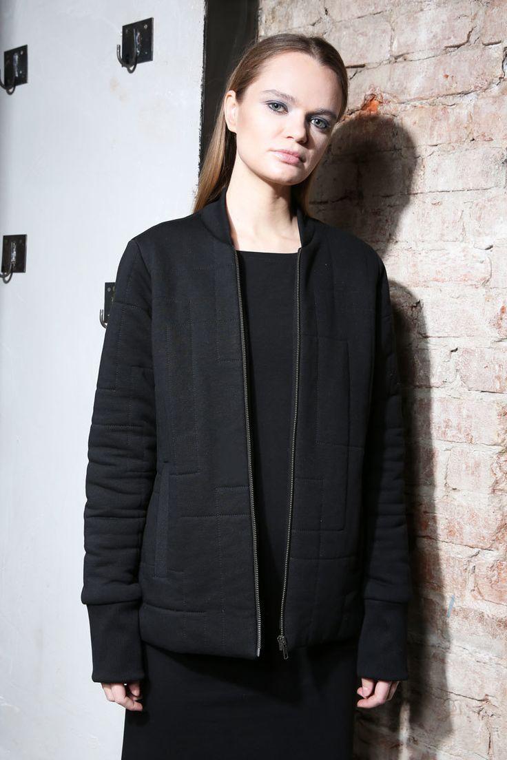 Women's short black bomber    #mariashi #fashion #russiandesigners #nofilter #outfit #outfitoftheday #outfits #outfitpost #clothes #fashionista #fashiondesigner #shopping #bomber #jacket