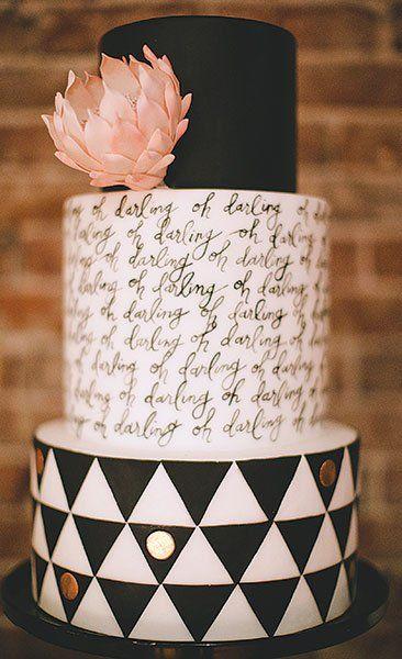 Script Wedding Cake