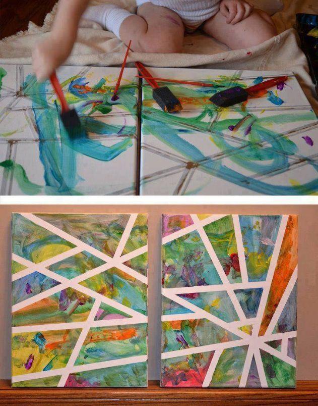 Great kids painting idea :)