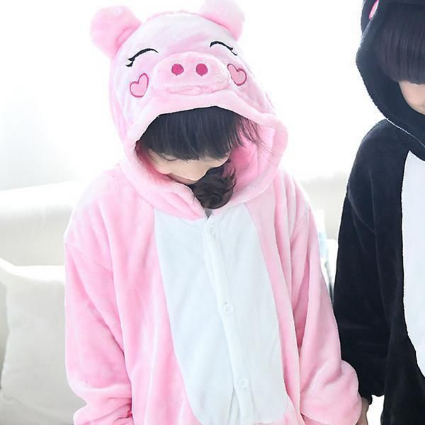 Unisex Kids Children Pikachu Pajamas Animal Panda Stitch Giraffe Totoro Unicorn Onesie Kitty Tiger Cosplay Costume Sleepwear