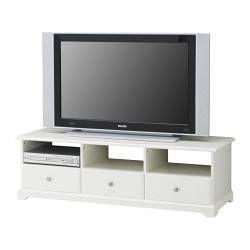 LIATORP TV bench, white Width: 145 cm Depth: 49 cm Height: 45 cm