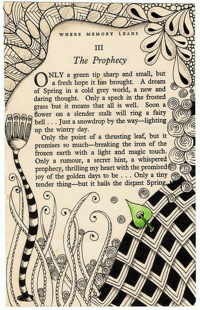 The Prophecy ~ altered book by Jo in NZ on Flickr #art #illustration #altered_book