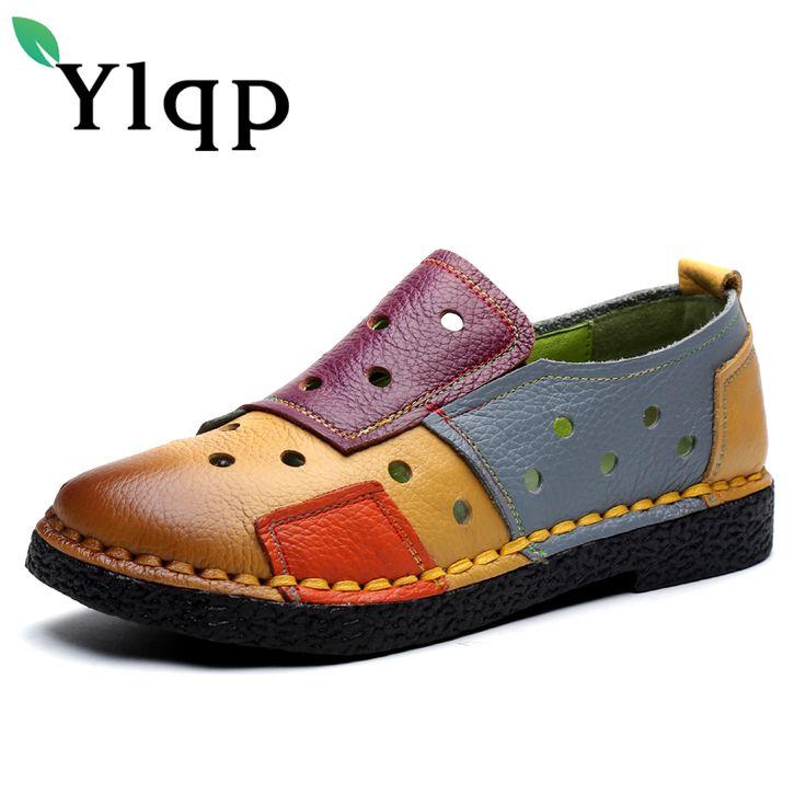 Moccasins Femmes csemelles de Caoutchou personnalité chaussures de loisirs style chinois Moccasin Femme d'été Plus De Couleur io26ny2dW