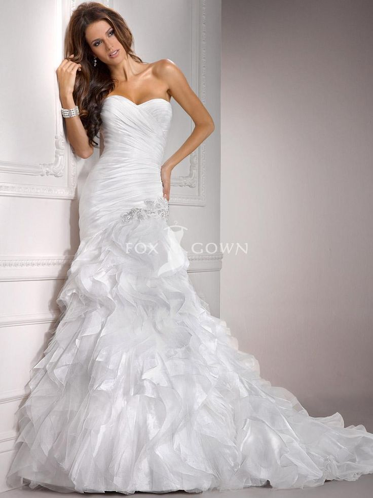organza and tulle ruched fit and flare