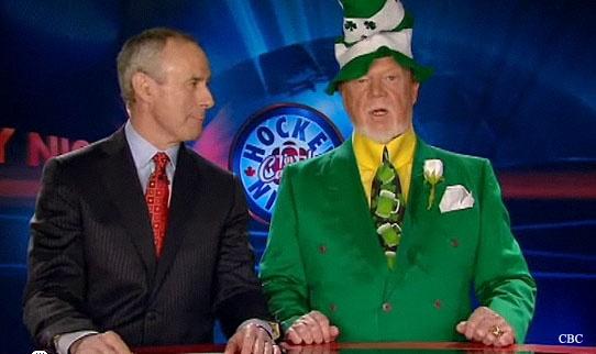 Irish eyes are smiling.