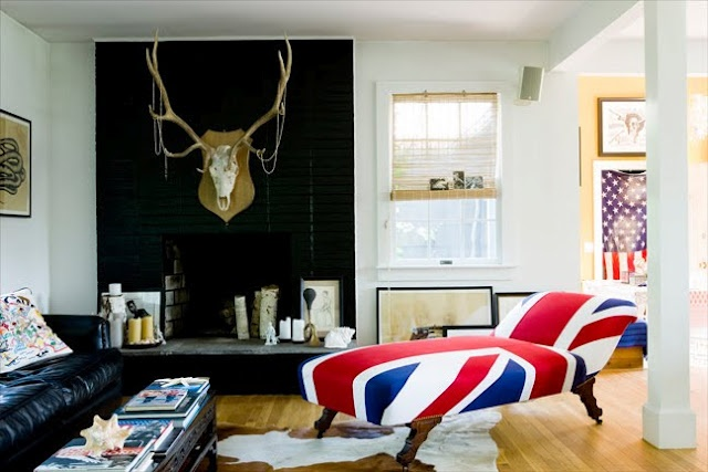 James Merrell photography love the union jack chaise.