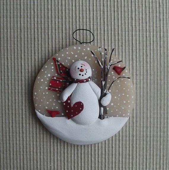 1000+ Ideas About Snowman Ornaments On Pinterest