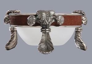 Pewter Dish 90mm saddle brown - Usiba Lwe Nyoni Collection. www.GoodiesHub.com